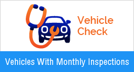Vehicles with monthly, safety inspections