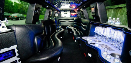 San Francisco Escalade Limo Interior