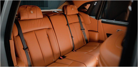 San Francisco Rolls Royce Phantom Sedan Interior